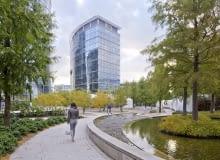 Plac Europejski, projekt: Wirtz International Landscape Architects, główny projektant Peter Wirtz; pracownia Massive Design (pasaż sztuki Art Walk oraz pawilon restauracyjny Genesis), główny projektant Przemysław Mac Stopa