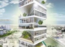 W spiralnie skręconym wieżowcu w Limie (projekt- LYCS Architecture) każdy apartament posiada własny niewielki ogród.