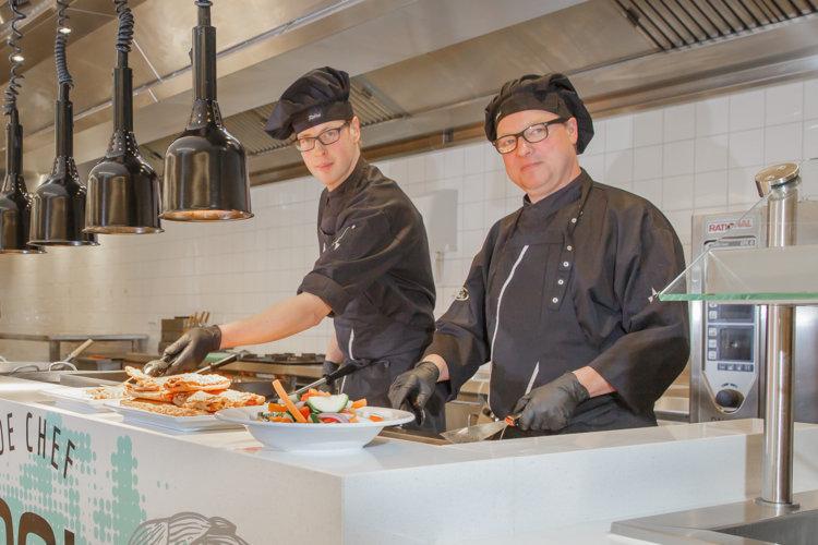 Werken in de keuken van Preston Palace