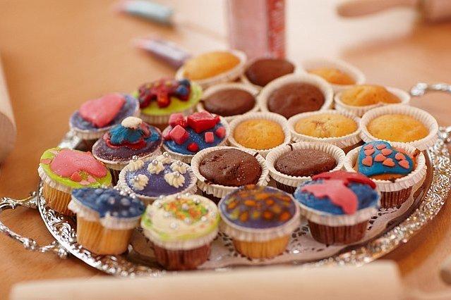 Versierde_cupcakes_gemaakt_tijdens_cupcakefeestje_kinderfeestje_Preston_Palace