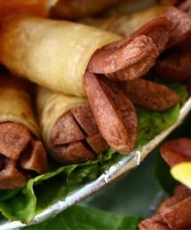 Наденички обвити в тесто с маруля под тях