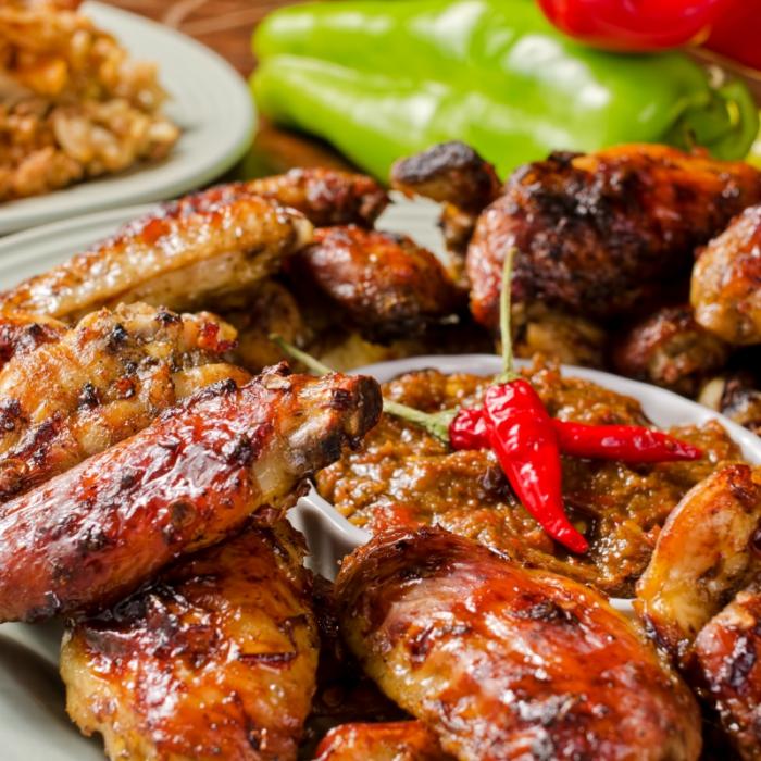 Пилешко в карибска марината jerk