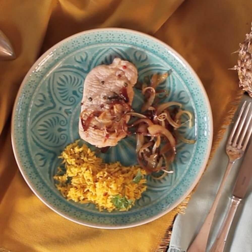 Свинско с мексикански сос