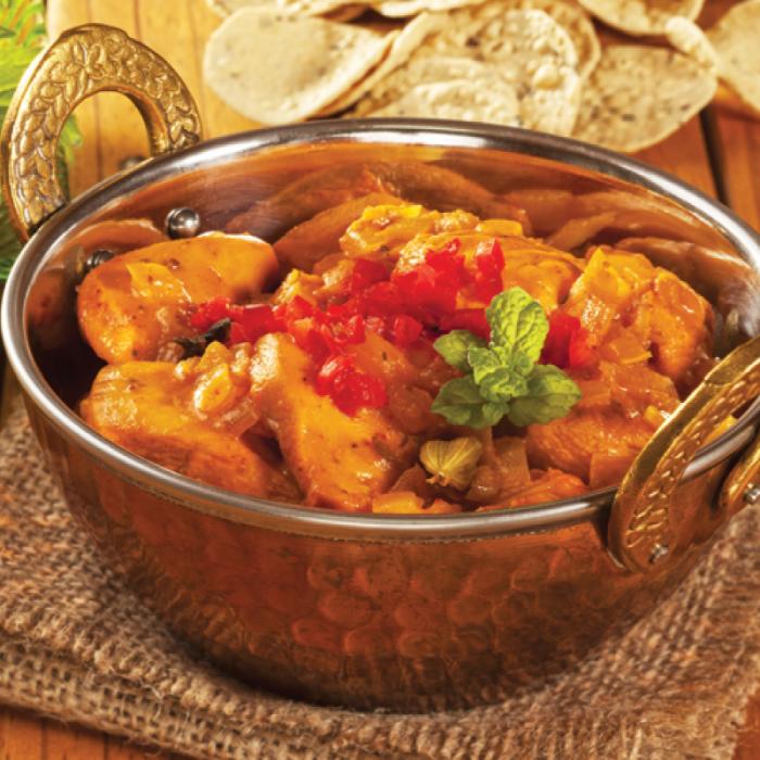 Пилешко къри по Индийски