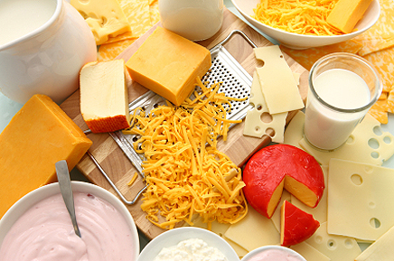 Find out how many calories are there in dairy products. Calories chart will help you to find out amount of proteins, fats and carbohydrates are in dairy products.