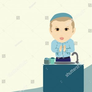 Vector-a-jewish-boy-after-washing-them-says-a-blessing-vector1570537171