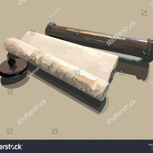 -a-realistic-vector-illustration-of-a-scroll-megillat-esther-מגילה וקטורי-1589678245