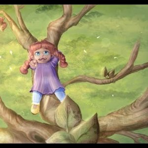 Girl on a tree - speedpaint by Henny Paneth