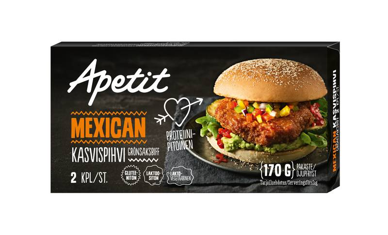 Apetit Mexican kasvispihvi 170 g