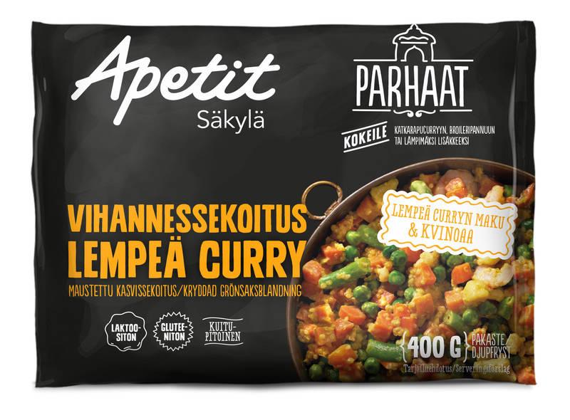Apetit Vihannessekoitus lempeä curry 400 g