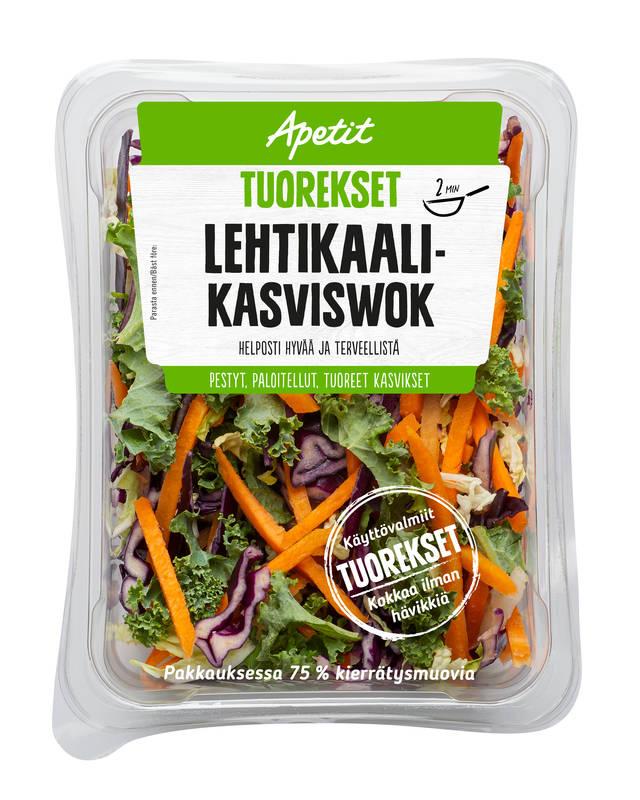 Apetit Tuorekset Lehtikaali-kasviswok 200 g