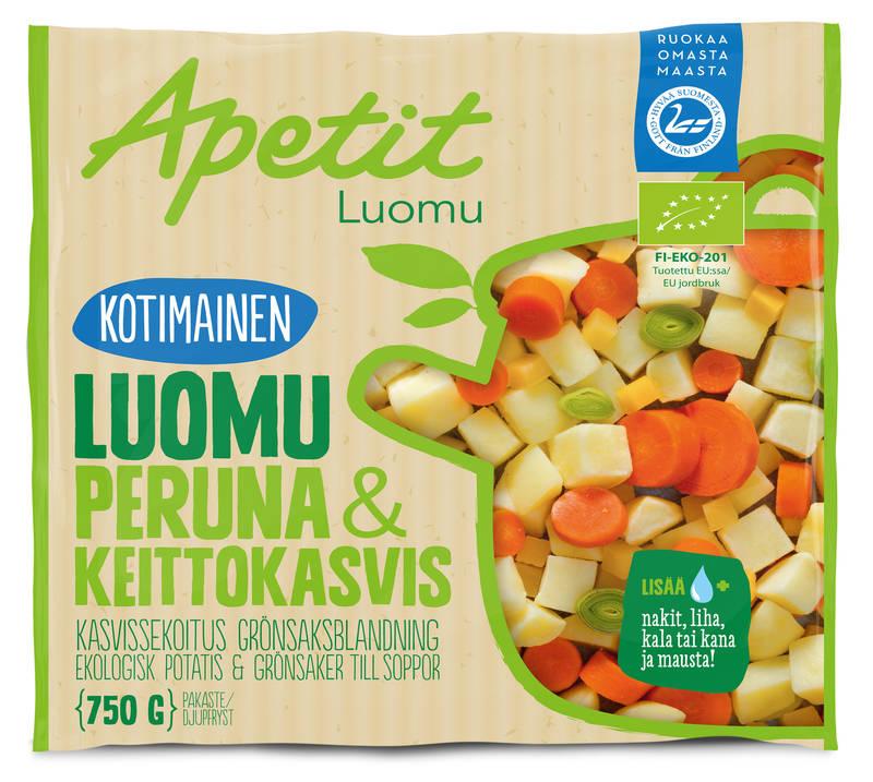 Apetit Kotimainen Luomu Peruna&Keittokasvis 750 g