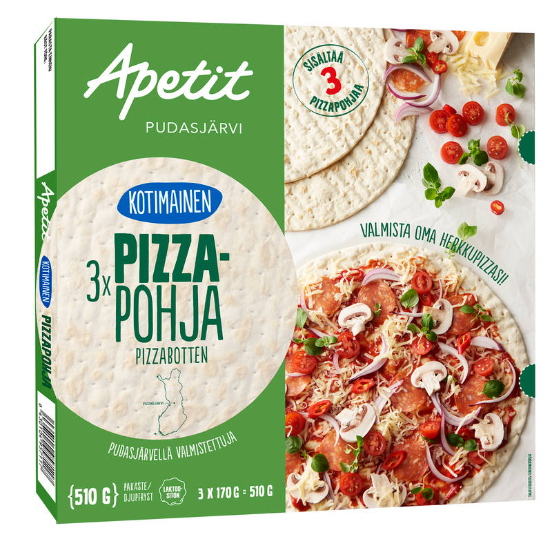 Apetit Kotimainen pizzapohja 510 g