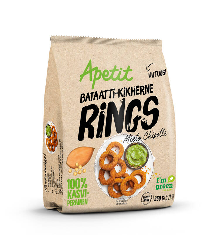 Bataatti-kikherne Rings 250 g