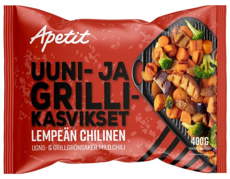 Uuni- ja grillikasvikset Lempeän chilinen 400 g