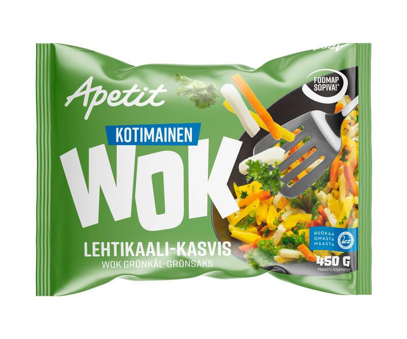 Apetit  Kotimainen Wok Lehtikaali-kasvis 450 g