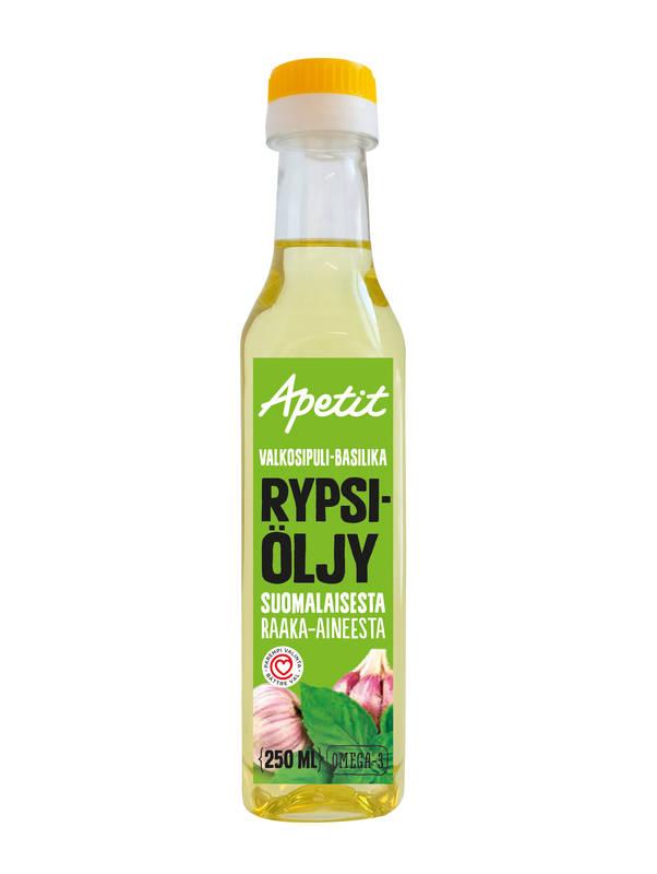 Apetit Valkosipuli-basilika rypsiöljy 250 ml