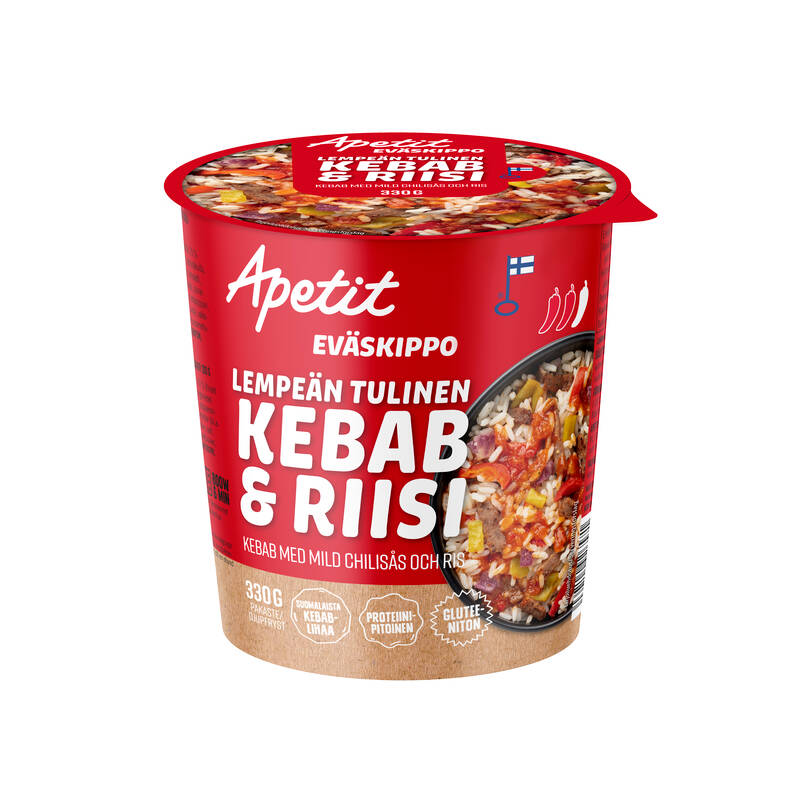 Apetit Eväskippo Lempeän tulinen kebab ja riisi 330g