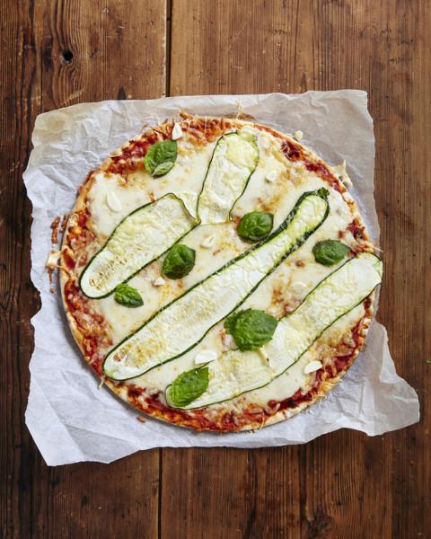 Papa Rafkin Fantasia kesäkurpitsa-mozzarellapizza