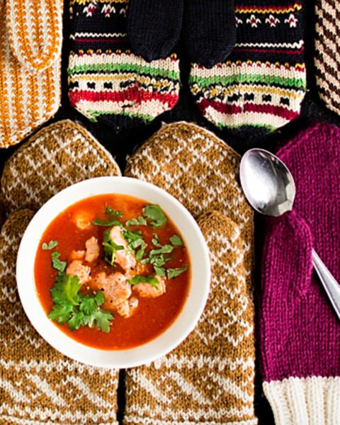 Lohi-papu-tomaattikeitto