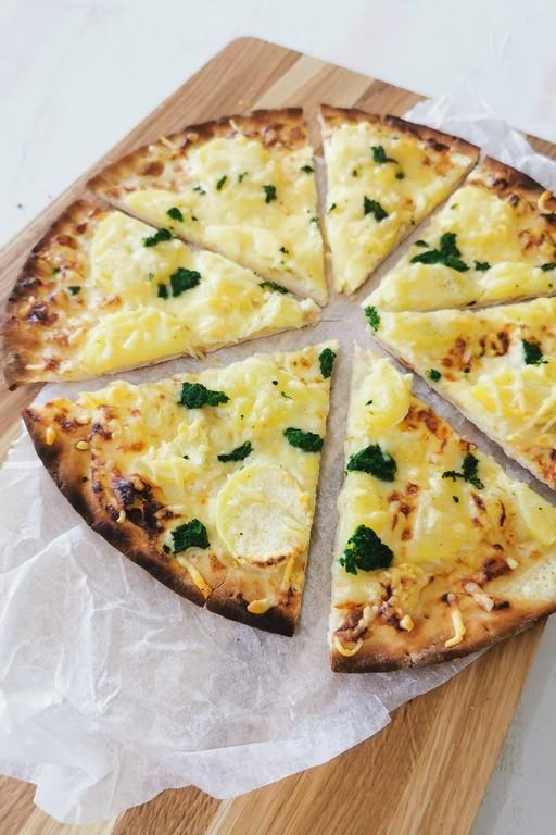 Vähemmän hävikkiä - Valkoinen perunapizza