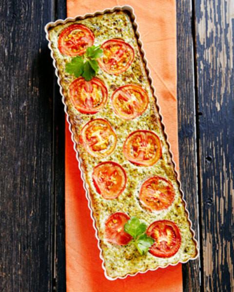 Pinaatti-tomaattipiiras