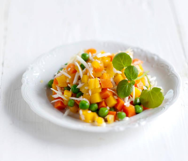 Kaali-herne-kurpitsasalaatti