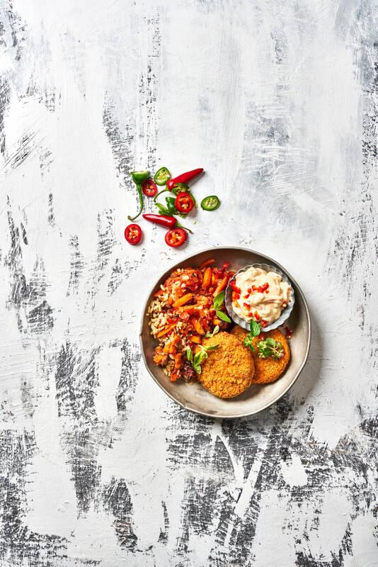 Mexicanpihvit,taco-kasvis-jogurtti, tex-mex-riisi