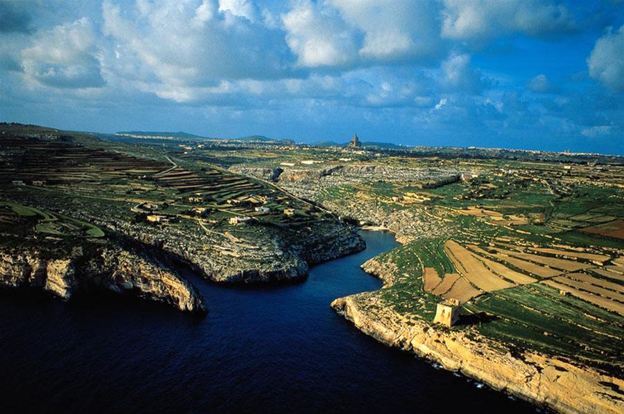 Mgarr ix-Xini Aerial View, Gozo, Malta