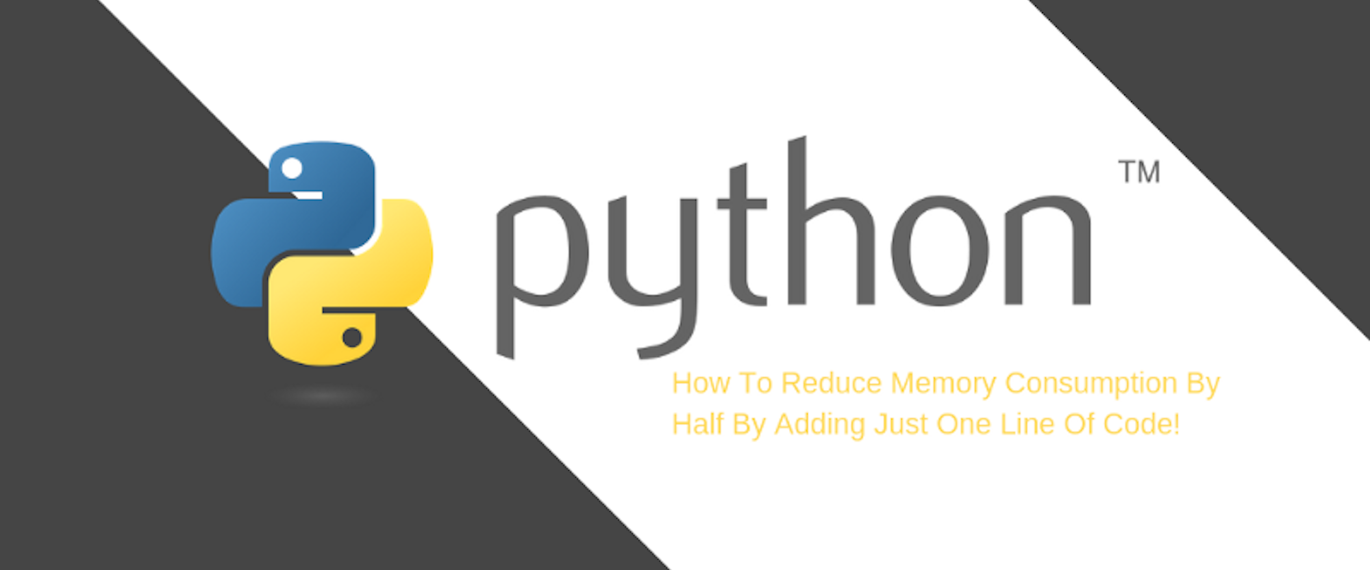Python: How To Reduce Memory Consumption By Half By Adding Just One Line Of Code?