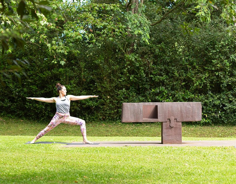 Yoga among the sculptures & brunch
