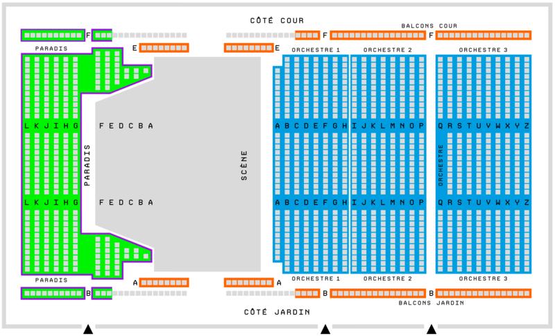 Plan de salle (Grande Salle Arsenal, Arsenal)