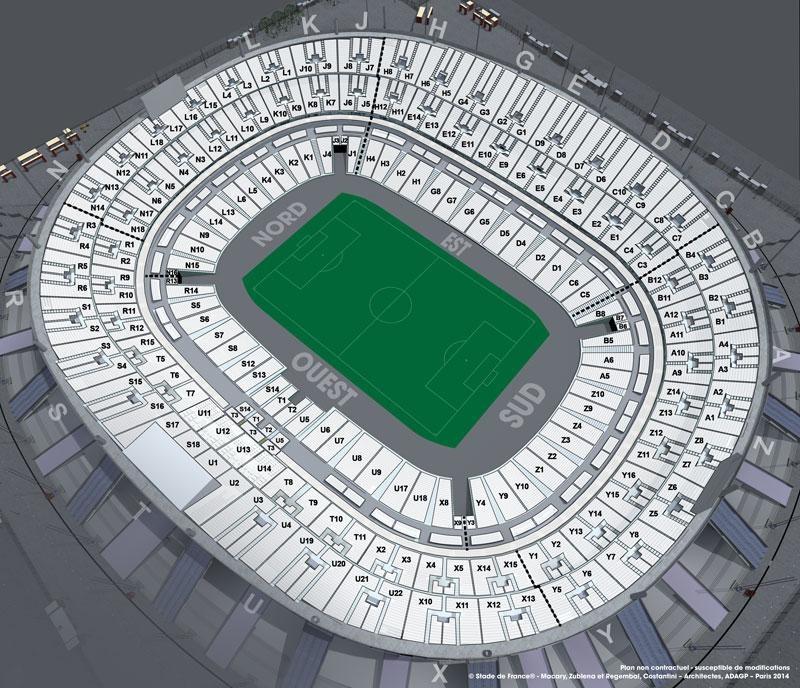 Seat plan (Stade, Stade de France)