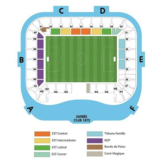 Seat plan (Stade Océane)