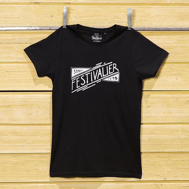T-Shirt Men black Festivalier white
