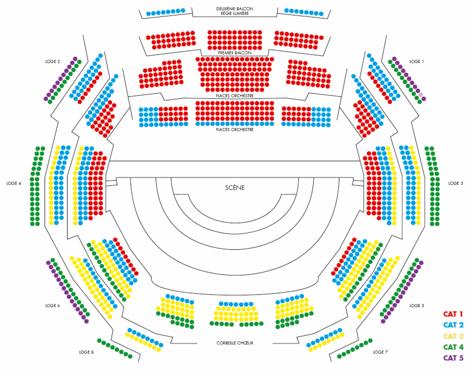 Plan de salle (Auditorium, Radio France)