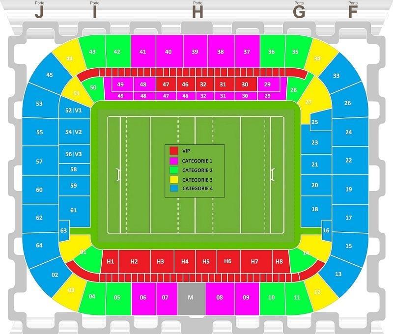 Seat plan (Matmut ATLANTIQUE)