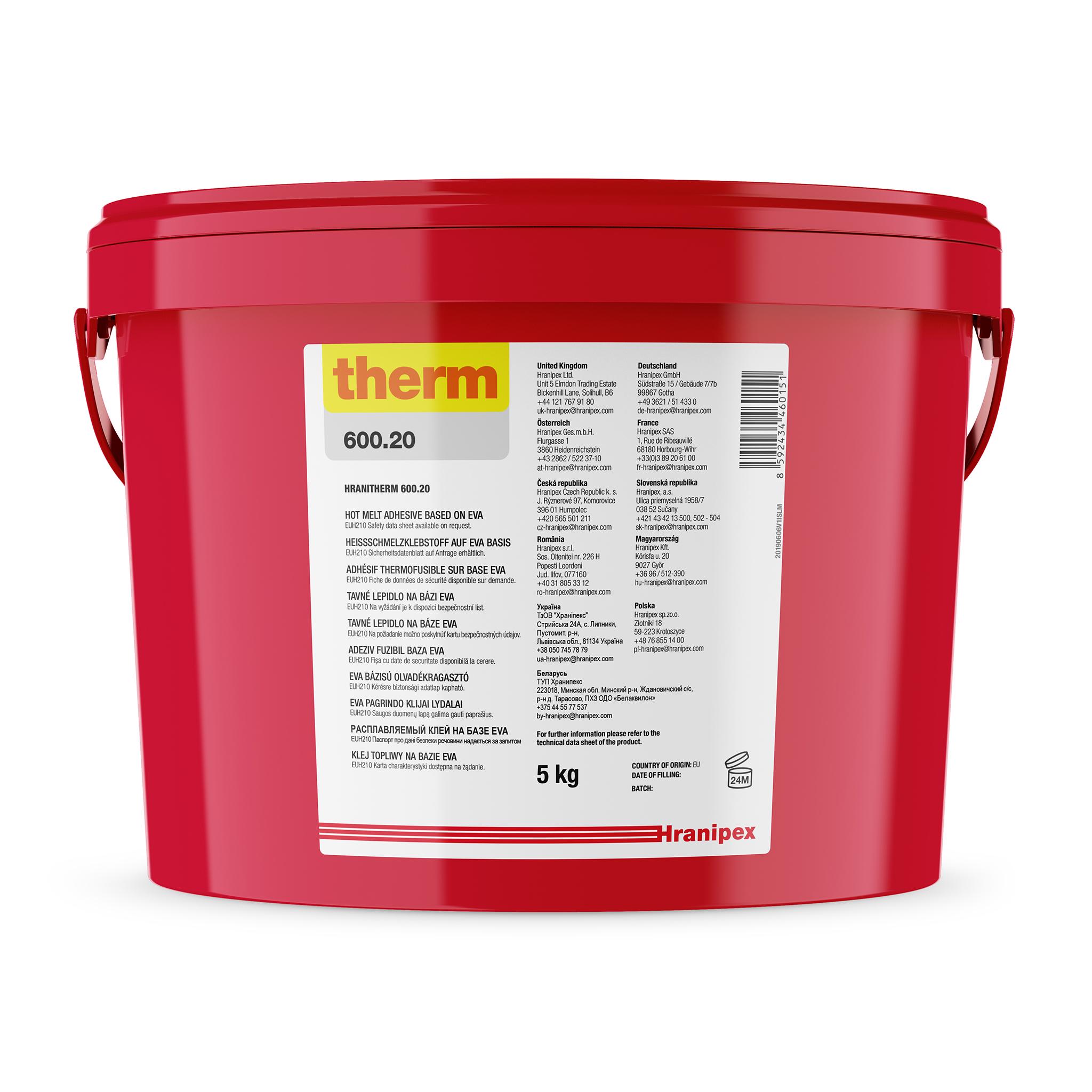 HRANITHERM 600.20 натуральный - EVA наполненный клей-расплав 5 kg granule