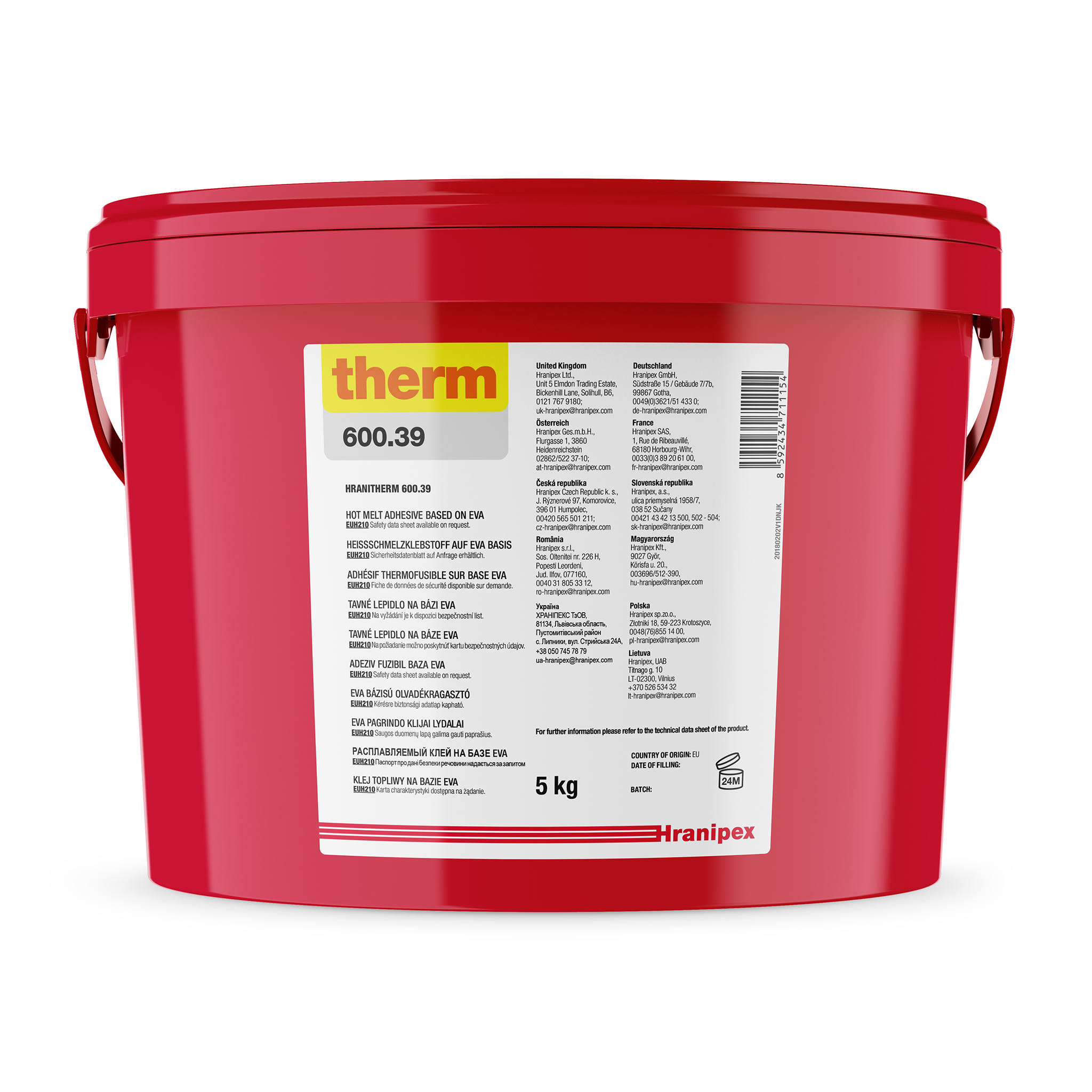 HRANITHERM 600.39 Black - EVA Hot Melt 5 kg granule