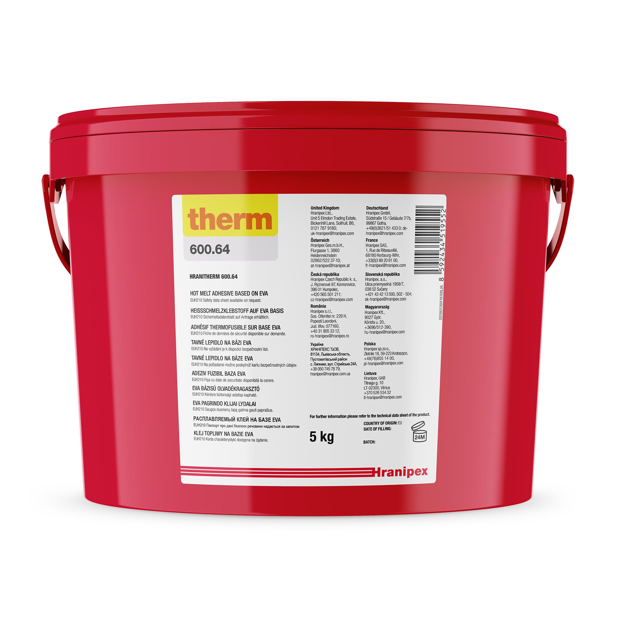 HRANITHERM 600.64 natural - termoadhesivo EVA 5 kg granule