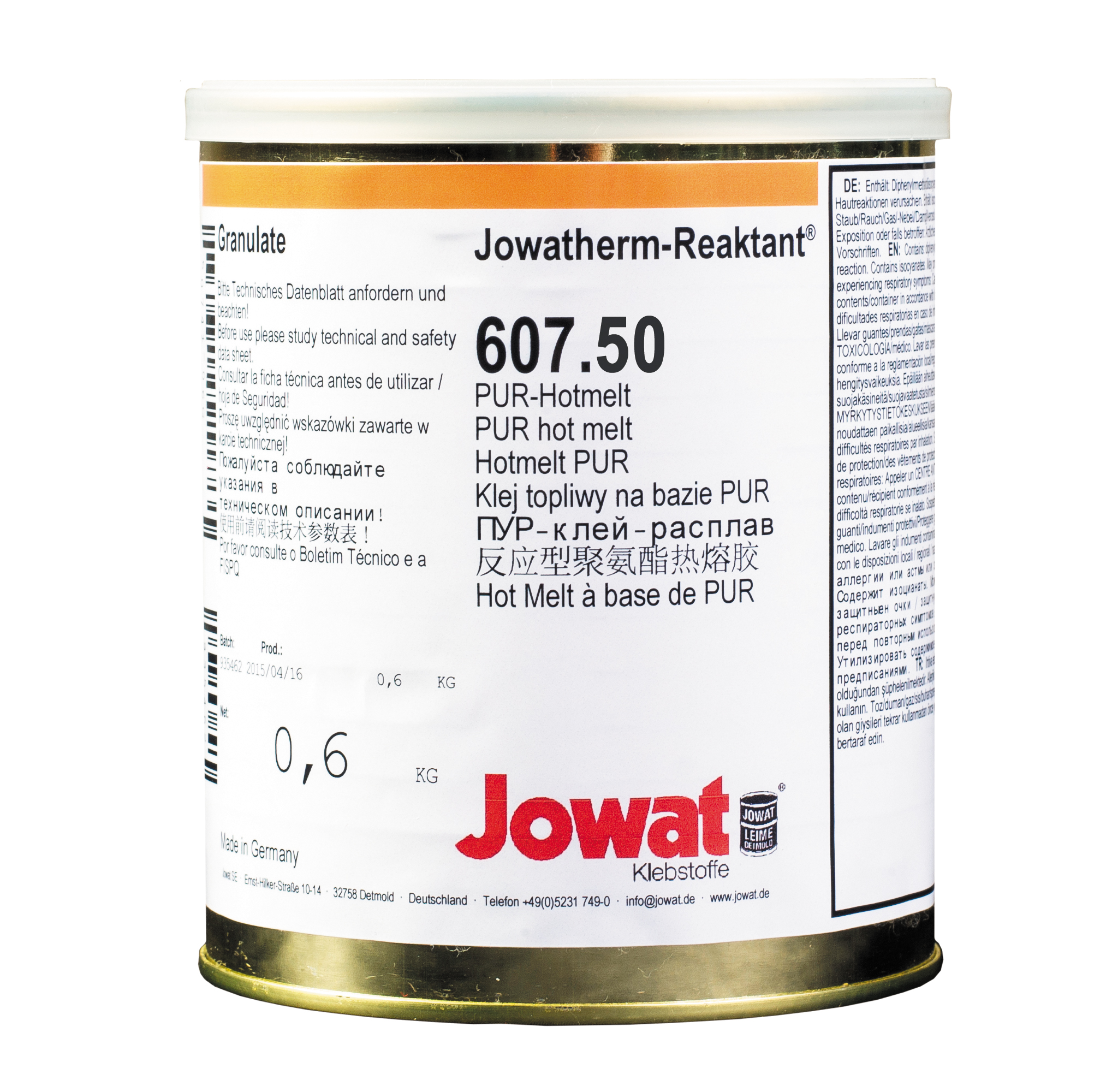 JOWATHERM 607.50 Nature - PUR Thermofusible 0,6 kg granule