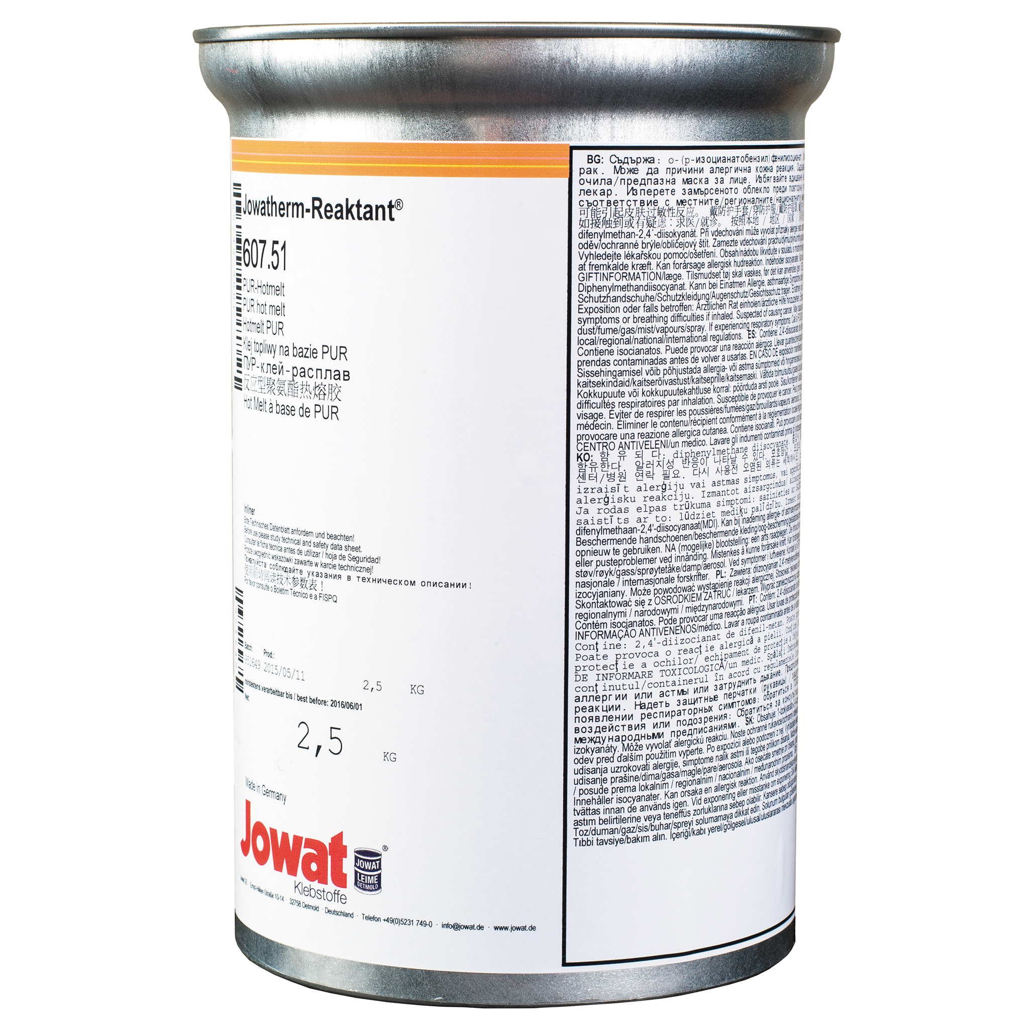 JOWATHERM 607.51 White - PUR Hot Melt 2,5 kg