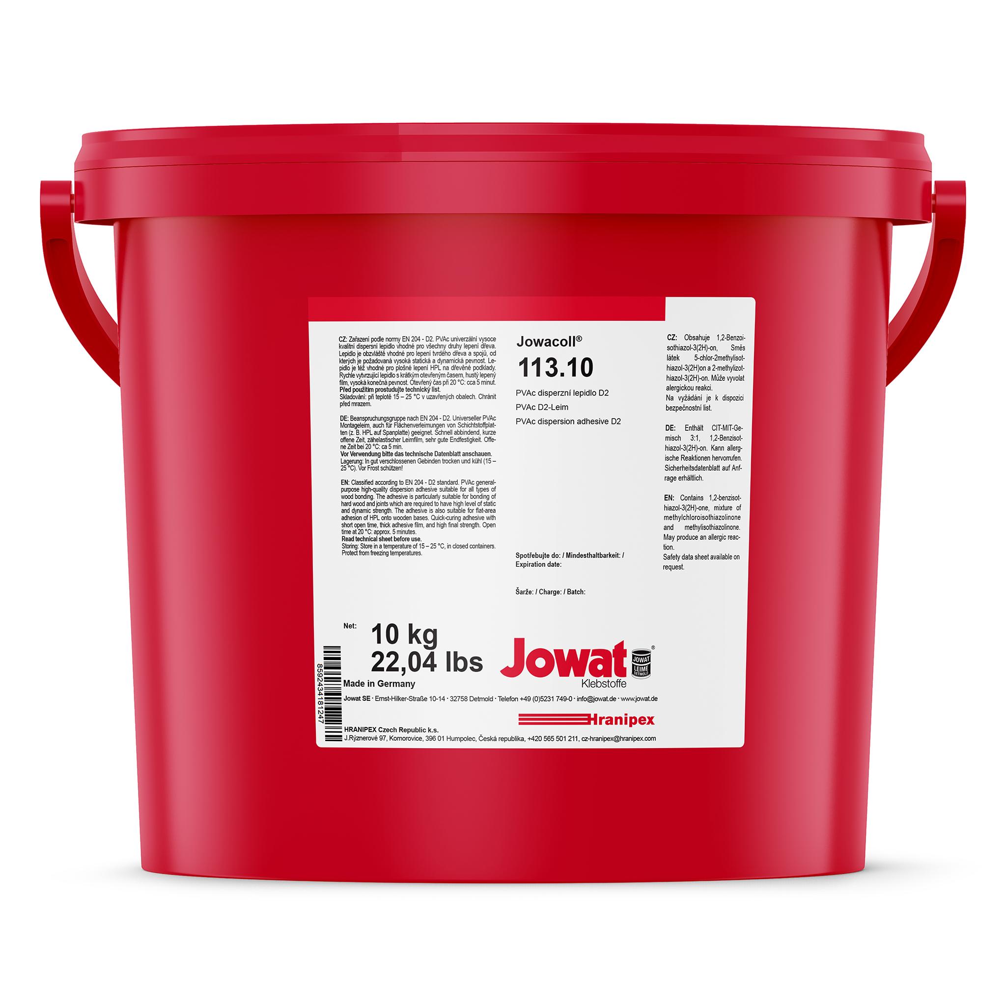JOWACOLL 113.10 - дисперсионный клей ПВА 10 kg