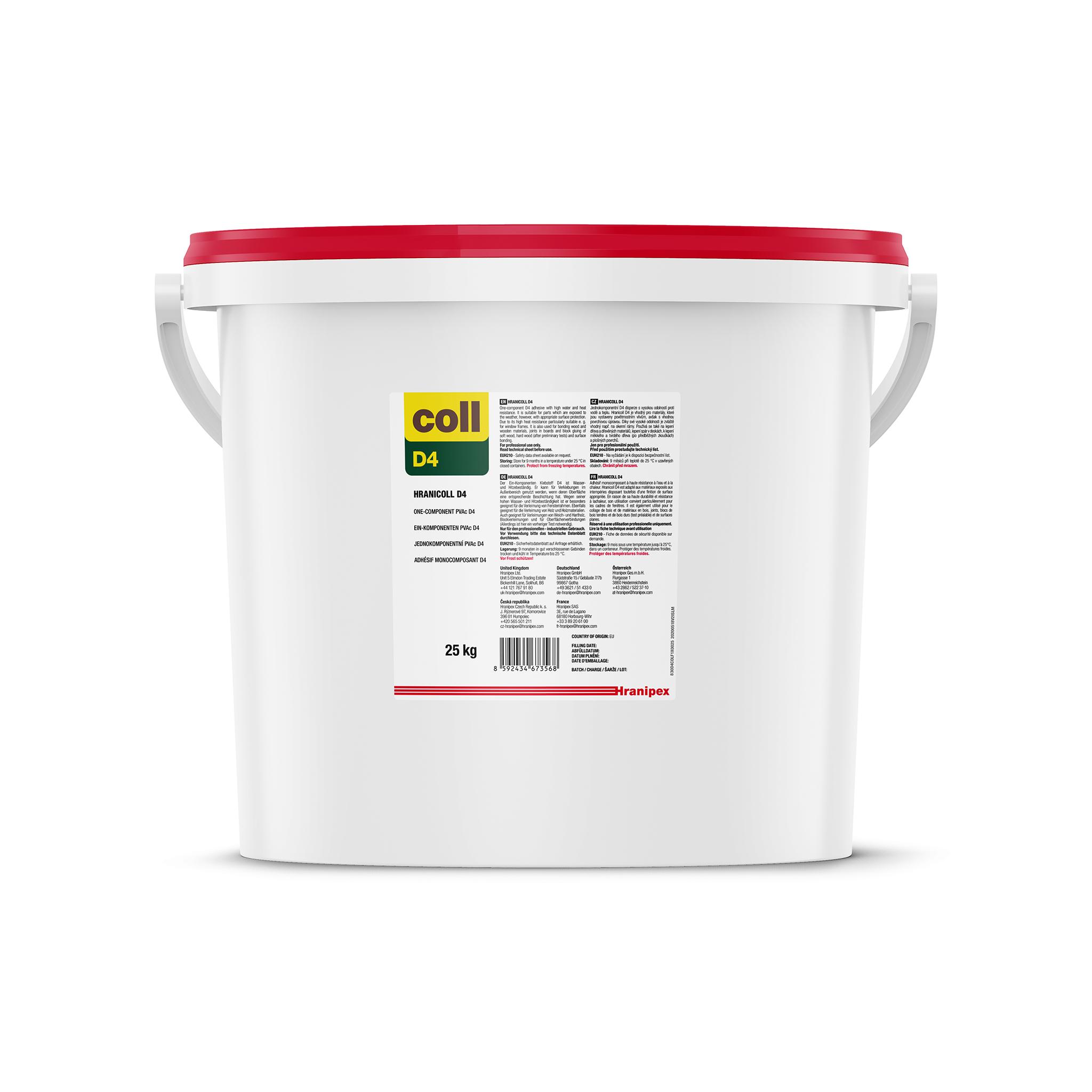 HRANICOLL D4 - PVAc adesivo in dispersione acquosa 25 kg