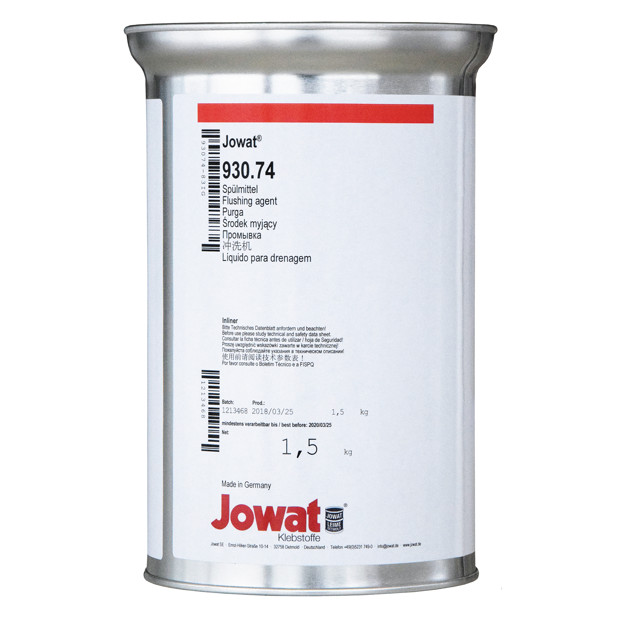 JOWAT 930.74 - Flushing Agent for PUR Glues