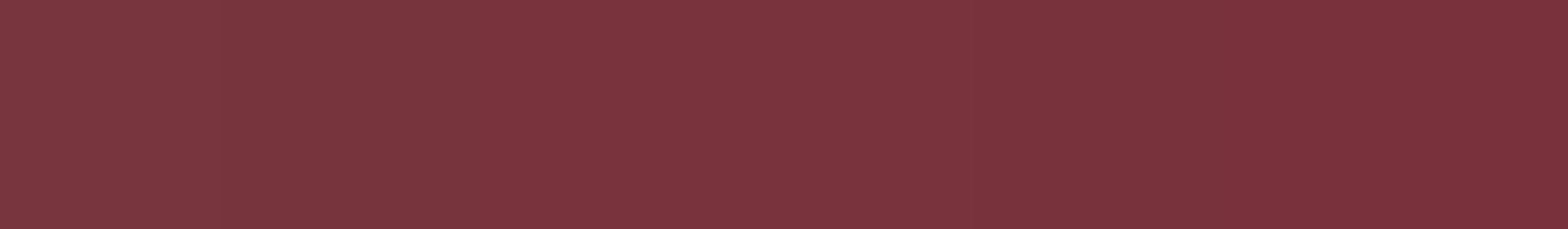 HU 13750 ABS Kante Dunkelrot glatt Glanzgrad 90°