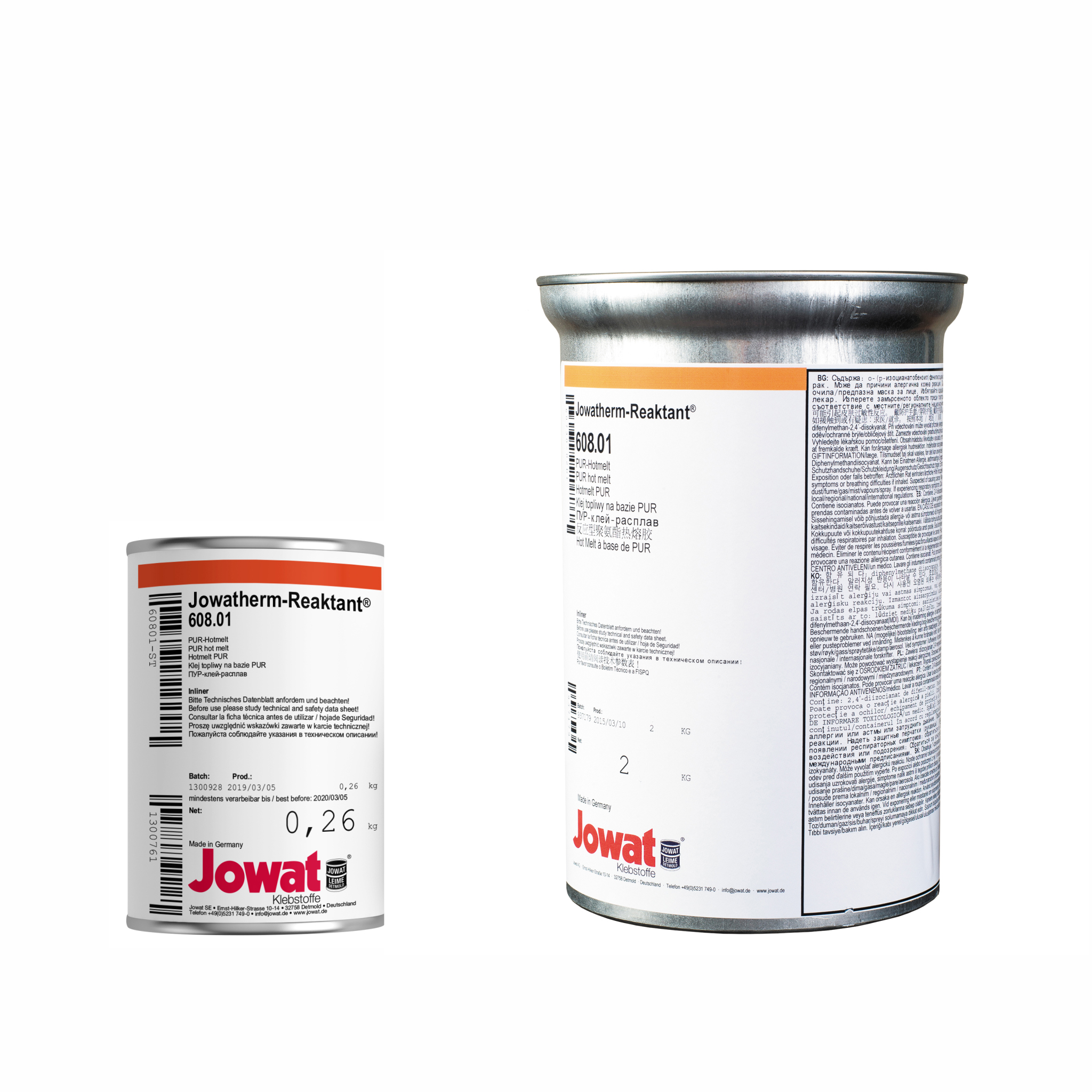 JOWATHERM 608.01 White - PUR Hot Melt