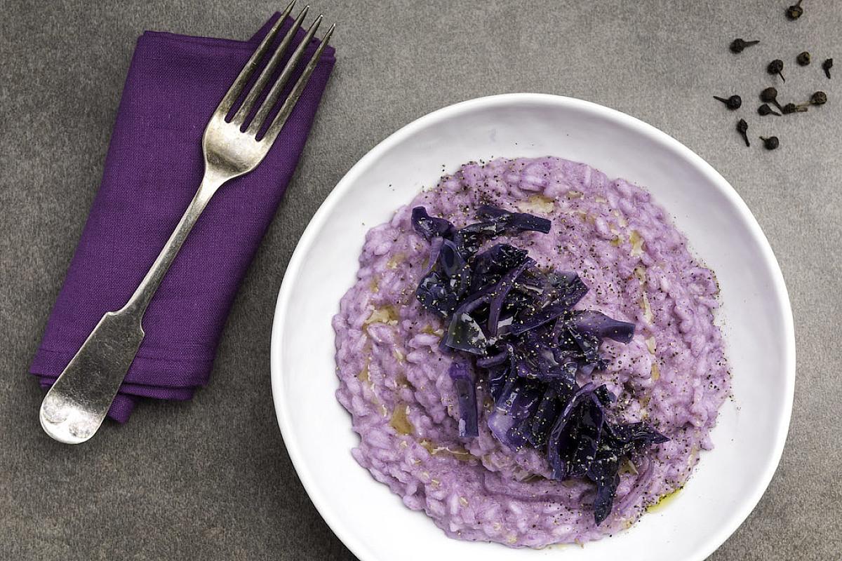Risotto con crauto viola