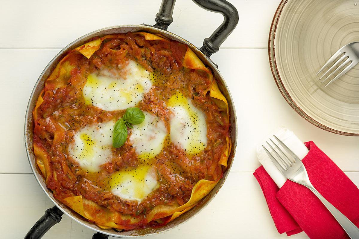 Lasagne rosse in padella