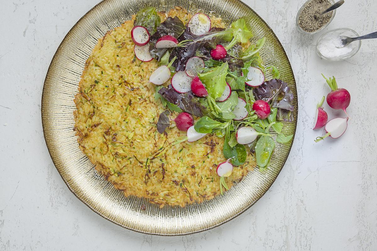 Frittella di riso con verdure crude